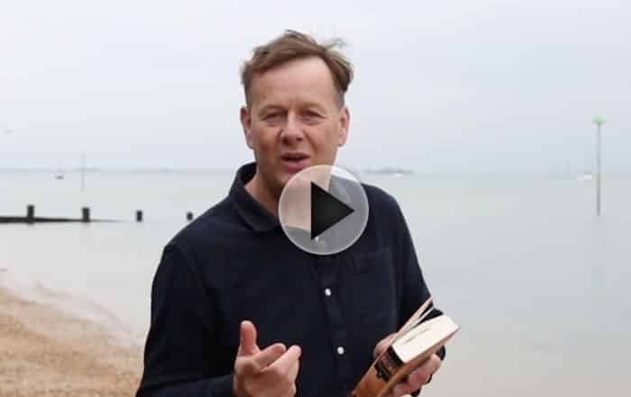 Peter Dominey talking about mark on the beach