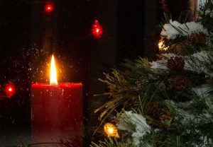 Christmas tree and candle